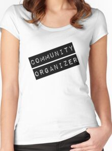 Community Organizer Label Women's Fitted Scoop T-Shirt
