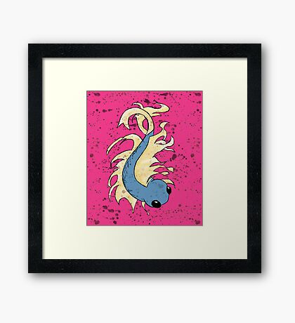 Blue and Gold Fish Framed Print