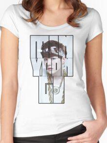 Bangtan Boys (BTS) SUGA 'MIN YOON GI' Women's Fitted Scoop T-Shirt