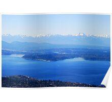 Over Puget Sound Poster