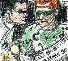 Riddler and Two-Face by RachelScottArt