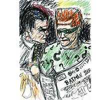 Riddler and Two-Face Photographic Print