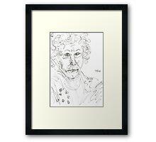 Miss Marple Sketch II Framed Print