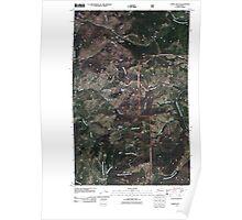 USGS Topo Map Washington State WA Corral Butte 20110509 TM Poster