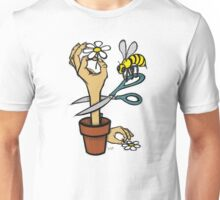Bee Hand Flower Unisex T-Shirt