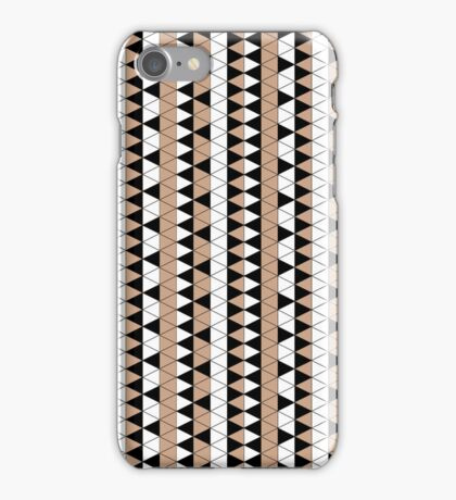Mocha Triangle Check Stripe iPhone Case/Skin
