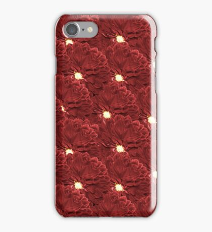 Burgundy Dahliahs iPhone Case/Skin