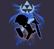 Super Smash Bros. Blue Toon Link Silhouette Unisex T-Shirt