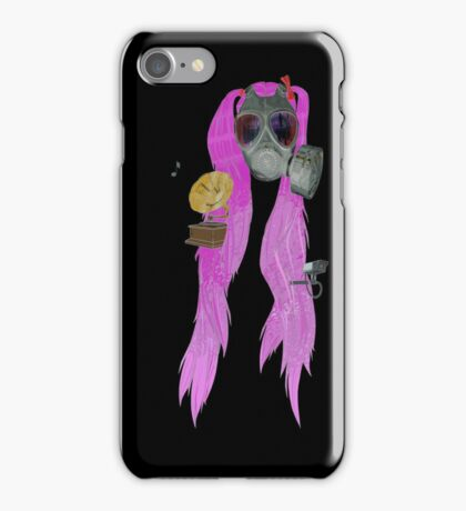 gas mask and pig tails  iPhone Case/Skin