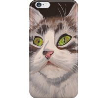 Long Haired Tabby Cat Portrait iPhone Case/Skin