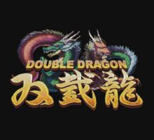 Double Dragon Logo T-shirt. (Black) by OriginalO