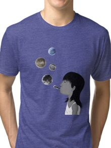 Blowing planets Tri-blend T-Shirt