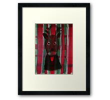 Christmas - The little cute Reindeer - Art for Kids Framed Print