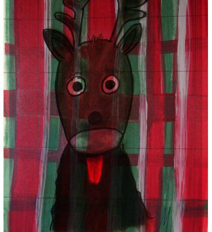 Christmas - The little cute Reindeer - Art for Kids Sticker