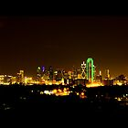 Dallas Skyline at Night by Rafiul Alam