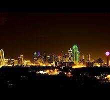 Dallas Skyline at Night by Rafiul Alam