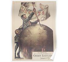 3e Emprunt de la Défense Nationale Crédit Lyonnais Souscrivez Poster