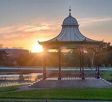 Elder Park Sunset by Ray Warren