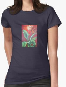 Red and Yellow Tulips Womens Fitted T-Shirt