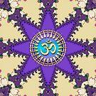 Fractal Lace Star Sanskrit OM iPhone & iPod Touch Case by webgrrl