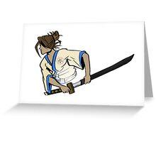 samurai ninja water  Greeting Card