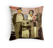''Luchadores Have Families Too'' Throw Pillow
