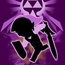 Super Smash Bros. Purple Toon Link Silhouette by jewlecho