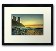 Reculver Towers at Sunset Framed Print