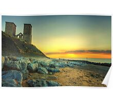 Reculver Towers at Sunset Poster