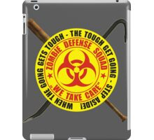 Zombie Defense Squad - when the going get's tough - step aside! iPad Case/Skin