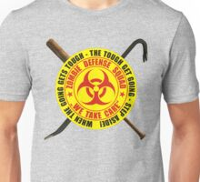 Zombie Defense Squad - when the going get's tough - step aside! Unisex T-Shirt