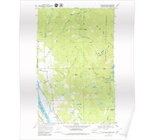 USGS Topo Map Washington State WA Skookum Creek 243746 1968 24000 Poster