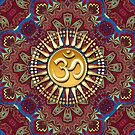 Batik Bohemian Aum Spiritual iPhone + iPod Touch Case by webgrrl