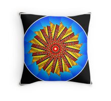 High rise mandala Throw Pillow