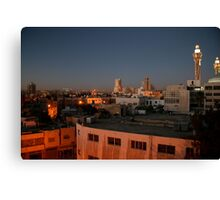 Dawn breaks over Amman Canvas Print