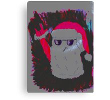 Christmas - the pink Santa Claus Canvas Print
