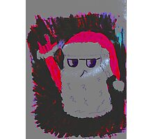 Christmas - the pink Santa Claus Photographic Print