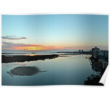 Maroochy River At Dawn. Maroochydore, Qld, Australia Poster