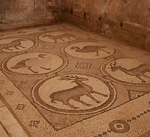 Mosaics in Petra by Citisurfer