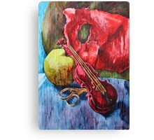 'Cutting Strings' Painting by Rebecca Canvas Print