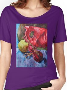 'Cutting Strings' Painting by Rebecca Women's Relaxed Fit T-Shirt