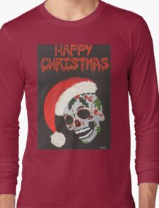 Sugar Skull- Happy Christmas Long Sleeve T-Shirt