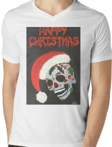 Sugar Skull- Happy Christmas Mens V-Neck T-Shirt