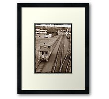 The Lonely Caboose Framed Print