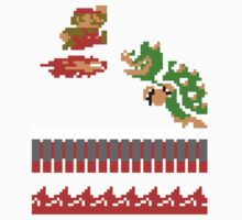 Mario VS Bowser 8-bit by Funkymunkey