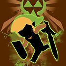 Super Smash Bros. Light Green/Brown Toon Link Silhouette by jewlecho