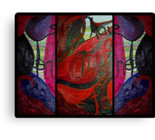 Fire Window Canvas Print