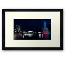 Torrens & the City Lights Framed Print