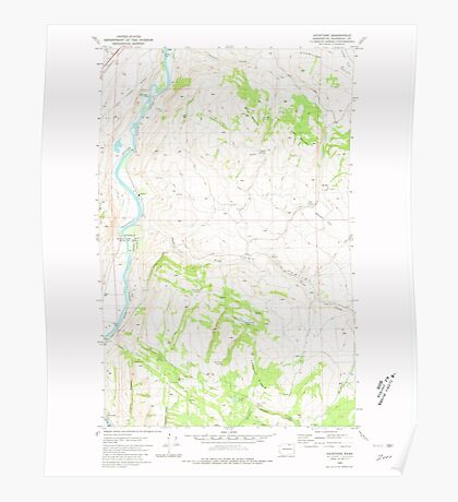 USGS Topo Map Washington State WA Keystone 241769 1980 24000 Poster