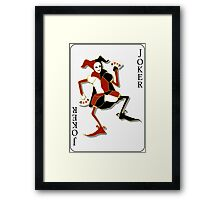 Joker Card Print Framed Print